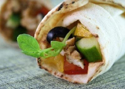 Lebanese wrap Chicken Taouk